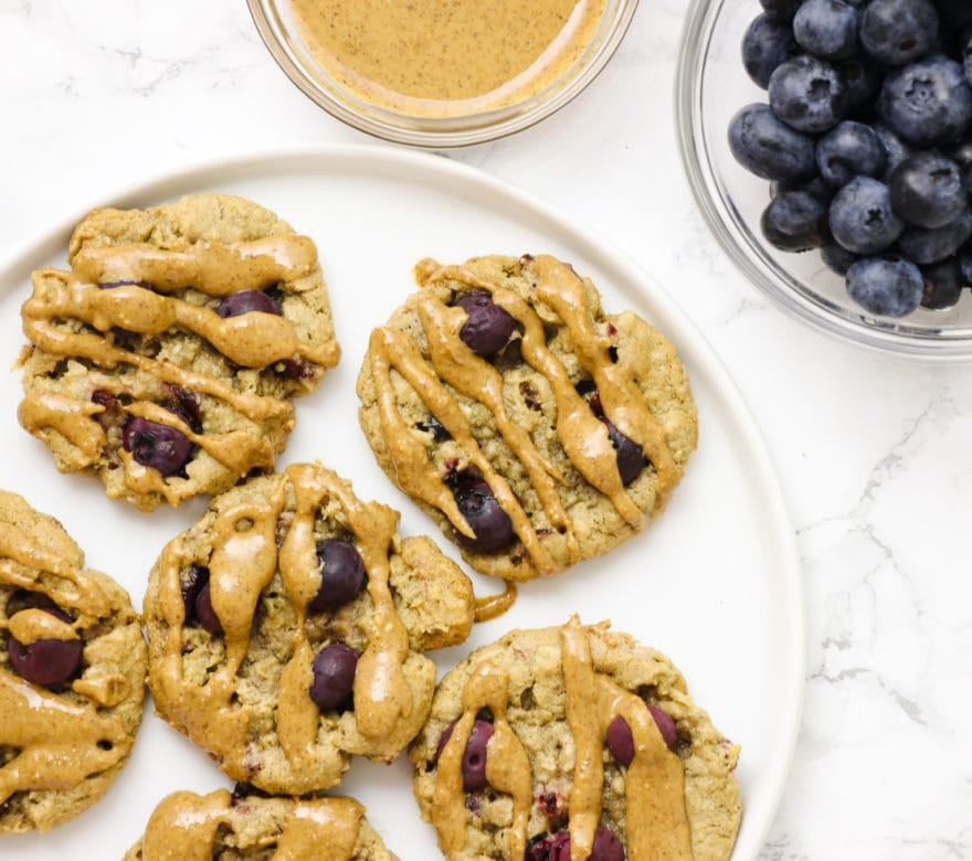 Blueberry Almond Butter Cookies
